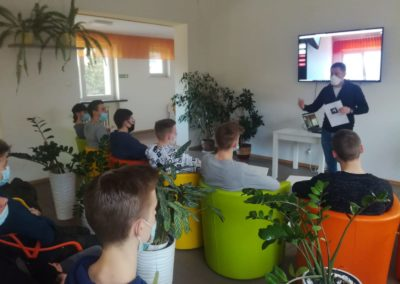 Educational meeting presenting the possibilities of augmented reality to students of the vocational school from Suwałki, Poland – March 2021